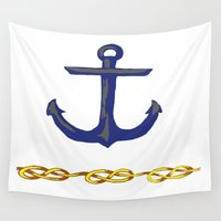nautical Wall Tapestries featuring Nautical by DesignSam