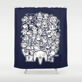 64Bit Shower Curtain