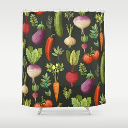 Garden Veggies Shower Curtain