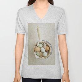 Organic eggs from Easter egger chicken Unisex V-Neck