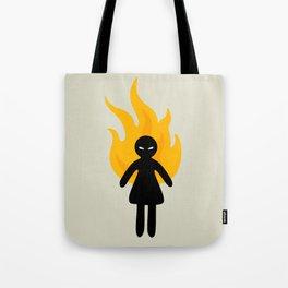 Beware of The Angry Girl Tote Bag