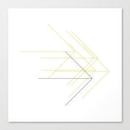 #375 Forward thinking – Geometry Daily Canvas Print