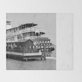 Steamer Natchez Riverboat Throw Blanket
