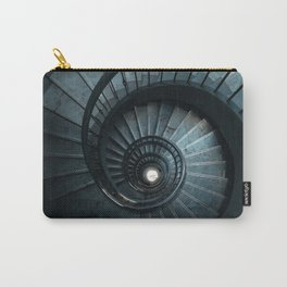 Blue spiral modern staircase Carry-All Pouch