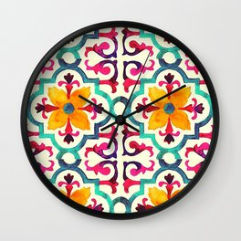 Mexican Pattern Wall Clock