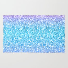 Colorful Retro Glitter And Sparkles Rug