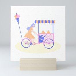 Ice cream girl Mini Art Print