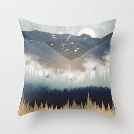 Blue Mountain Mist Throw Pillow