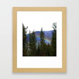 Over the rainbow through the forest... Framed Art Print