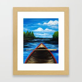 """""""Solitude... On Tomahawk Lake Framed Art Print"""