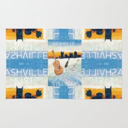 Nashville Music Pattern Rug