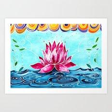 Lotus Lily Art Print