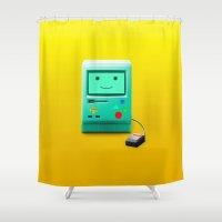bmo Shower Curtains featuring BMO by Karolis Butenas