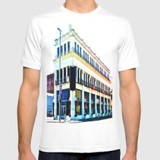 Big Whiskey Saloon MEDIUM White Mens Fitted Tee