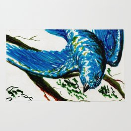 Mountain Bluebird Rug