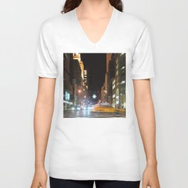 Holiday Season in New York City -b- Unisex V-Neck