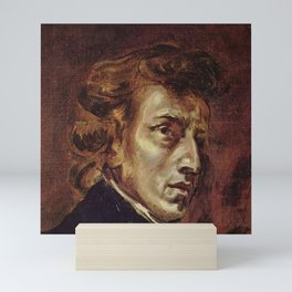 Eugene Delacroix- Portrait of Chopin Mini Art Print