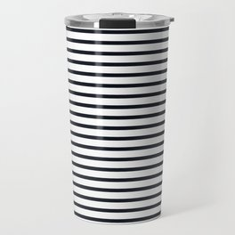 Sailor Stripes Black & White Travel Mug