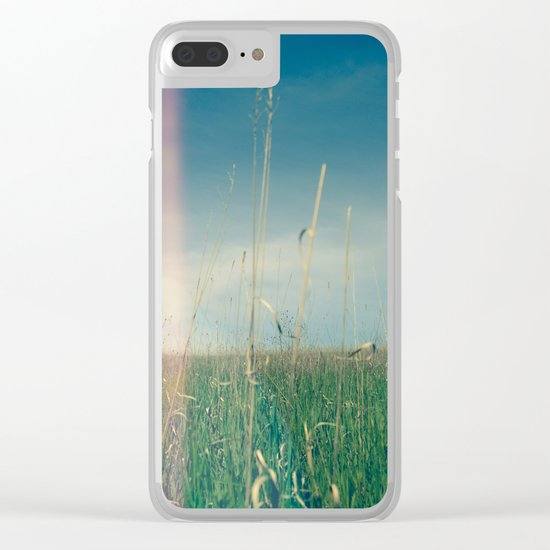 Her Heart Was a Wide Open Landscape Clear iPhone Case
