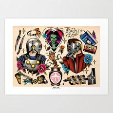 Guardians Flash Set Art Print
