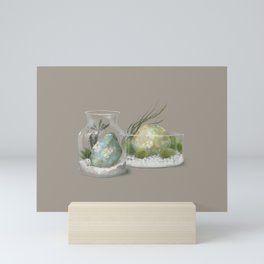crystal terrarium Mini Art Print