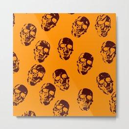 Hot skulls,orange Metal Print