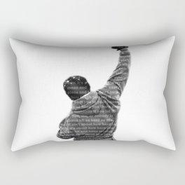 How Hard You Get Hit - Rocky Balboa Rectangular Pillow