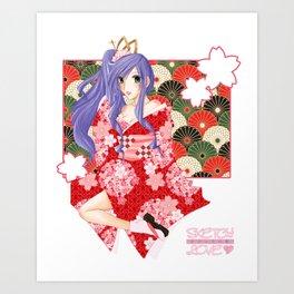 Sketch Love - Cherry Blossom Suketchi Art Print