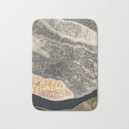 Elegant Black and Gray Pattern Bath Mat