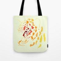 jaguar Tote Bags featuring Jaguar by Icela perez bravo