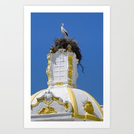 Baroque stork's nest Art Print