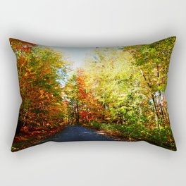 Into the Fall Forest Rectangular Pillow