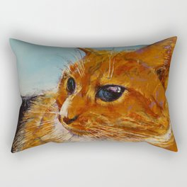 Orange Tabby Cat Rectangular Pillow