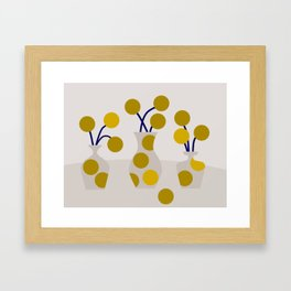 Illustration:cut flowers Framed Art Print