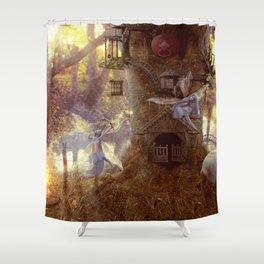 Fairys day off Shower Curtain