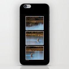 Gone Fishing Triptych Black iPhone & iPod Skin