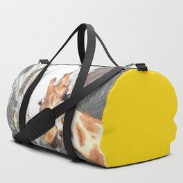 Selfie Giraffe in New York Duffle Bag