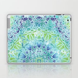 Blue Greenery Tie-Dye Mandala Laptop & iPad Skin