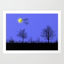 Blue panorama Art Print