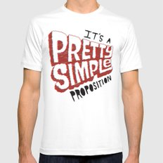 Pretty Simple White Mens Fitted Tee MEDIUM