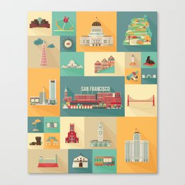 San Francisco Landmarks Canvas Print