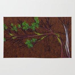 Western juniper tree portrait Rug