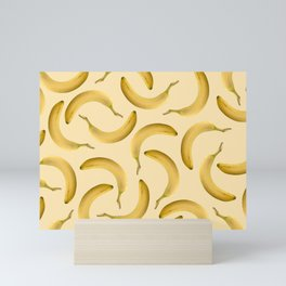 Bananas Pattern - yellow Mini Art Print