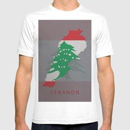 Lebanon, Outline, Map T-shirt