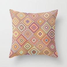 Granny's Millefiori Quilt-Spring Colors Throw Pillow