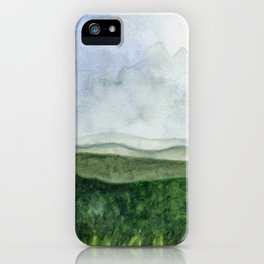 Distant Mountains iPhone Case