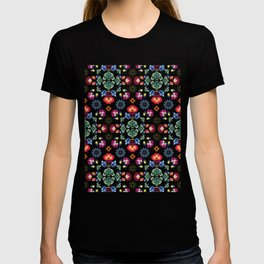 Fiesta Folk Black #society6 #folk T-shirt