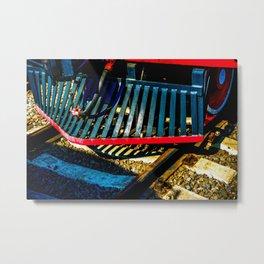 Vintage Steam Engine Train Cowcatcher Metal Print