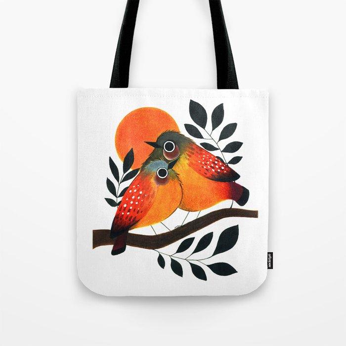 Fluffy Birds Tote Bag