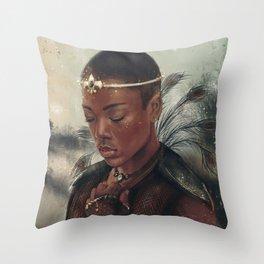 The Warrior Princess Throw Pillow
